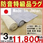 防音 ラグ 200×250cm  防音特級  LL-35  抗菌 防臭 絨毯 カーペット 【品名 サーボチェック】