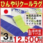 ラグ カーペット アウトレット ひんやりクールラグ 夏 約3畳 190×240cm シェードライン