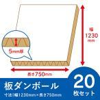 <白色>板ダンボール 20枚セット 5mm厚 幅:1230x750  パーテーション テレビ会議 背景 飛沫防止 デスク 段ボールシート 梱包 工作  養生