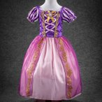 塔の上のラプンツェル風 ドレス 子供 コスプレ 衣装 仮装
