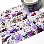 麒麟創意 マスキングテープ 15mm Purple Bottles