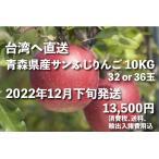 りんご10kg/台湾向け宅配/青森県産サンふじ10kg【12月下旬配送・送料無料・代引不可】