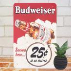 Yahoo!太陽雑貨renブリキ看板 バドワイザー 25赤 生ビール BAR インテリア ポスター 雑貨