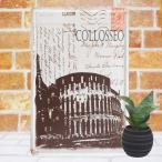 ショッピングイタリア ブリキ看板 1000種類 イタリア コロッセオ pc ポスター