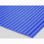 衝撃吸収安心クッション 壁一面・凹凸の多い柱の保護に 波型 BLUE(青)