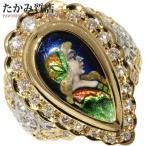 梶 光夫(かじ みつお) K18YG/Pt900/エマーユ(エナメル) ダイヤ 指輪(リング) 12号