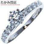 ティファニー Pt950 ダイヤ0.43ct(H-VS1-EXCELLENT-FAINT)/ダイヤ ラウンドブリリアント&チャネルセッティングバンドリング 指輪(リング) 9号