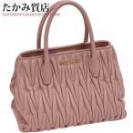 ショッピングMIUMIU ミュウミュウ マテラッセ 2WAYハンドバッグ(5BG069) シープスキン(ピンク)