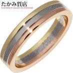 カルティエ 指輪 リング K18YG K18WG K18PG トリニティウェディングリング 幅3.5ミリ B40522 #46 6号