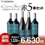 【送料無料】お客様のリクエストで誕生!大人気コノスルを堪能!リゼルヴァ5本赤ワインセット!