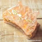 ねこ顔バンスクリップL ピンク 桃色猫 雑貨【レターパックプラス可】C