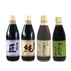 小豆島天然醸造 正金醤油 4種セット 純/匠/八方だし/すだち生ぽん酢 360ml 各1
