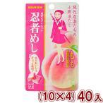 (本州一部送料無料)味覚糖 忍者めし もも味 (10×4)40入 (Y80)