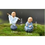 お坊さん4個セット 人形 人間 ウィディング テラリウムフィギュア ミニフィギュア 苔テラリウム 箱庭 イベント テラリウムキット