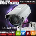 ダミーカメラ ソーラーパネル駆動式 防犯用 屋外 屋内 LED点滅 フェイクカメラ 太陽光 単4 駆動