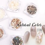 【シェル】ナチュラルカラー シェルストーン 6種セット【メール便対応】天然貝 シェルフレーク クラッシュシェル