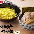 濃厚魚介つけ麺 5食 お取り寄せ 常温保存OK 鰹スープ 本格的 と評判です 送料無料