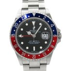 【ROLEX】【スティックダイアル】ロレックス『GMTマスター2 赤×青ベゼル』16710 D番'05年頃製 メンズ 自動巻き 12ヶ月保証【中古】