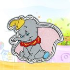 SS-7064 ☆ハンドメイド☆ ディズニー 象さん かわいい 大きいアイロンワッペン☆