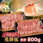 豚肉 焼肉セット しゃぶしゃぶセット 国産 飛騨豚 合計 800g ( ロース 300g バラ 500g ) 5人前 送料無料