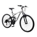 CHEVROLET AL-ATB2618GLOW  シボレー 自転車シルバー(組立・整備発送)赤マウ...