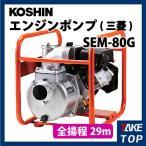 工進/KOSHIN エンジンポンプ 三菱エンジン 散水 洗浄 ハイデルスポンプ SEM-80G