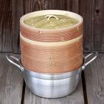 杉蒸篭(せいろ)18cm2段鍋つきセット
