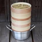 杉蒸籠(セイロ)15cm3段鍋付きセット