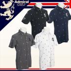 2017年春夏モデル アドミラルゴルフ ADMIRAL GOLF 総柄ランパント BDシャツ ADMA725 Admiral Golf