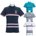 30%オフ アドミラル ゴルフ メンズ シャツ 半袖 レジメンタル ボーダー ハイネック ADMA030 Admiral Golf