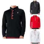 ティーマック ゴルフ ポロシャツ メンズ シャツ 長袖 ロゴ ボタンダウン トップス 無地 白 ホワイト 黒 ブラック 赤 レッド グレー Tマック T-MAC 41675-118