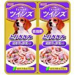 TAKEYAオンラインPayPayモール店で買える「いなばペットフード INABA ツインズ とりささみ とり軟骨&野菜入 犬用フードウェット80g 小袋パック 成犬用総合栄養食」の画像です。価格は91円になります。