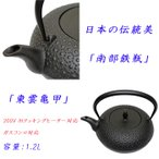ショッピング南部鉄瓶 送料無料 南部鉄瓶(てつびん) 東雲亀甲 H-200 200VIH対応 日本の伝統美、南部鉄器