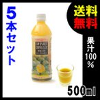 青切り シークワーサー 原液 果汁100% 500ml ×5本 ノビレチン シークヮーサー