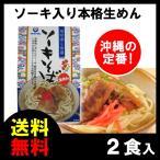 ソーキそば 2食セット 本格生めん(レトルト ソーキ 付) オキハム 送料無料