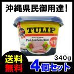 チューリップ ポークランチョンミート(うす塩味)340g TULIP エコパック ×4 送料無料