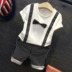 人気 フォーマル スーツ 赤ちゃん ベビー服 子供 男の子 キッズ 出産祝い タキシード風 蝶ネクタイ付 結婚式 誕生日 お食い初め お宮参り