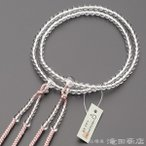 数珠 真言宗 女性用 本水晶 8寸 宗派別念珠
