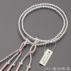 数珠 日蓮宗 女性用 本水晶 8寸 宗派別念珠