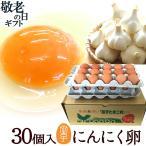 卵 高級 卵かけご飯 にんにく卵 30個入(生卵25個+破損保証5個) 卵  ギフト 甘く生臭さニンニク臭無し