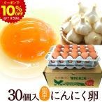 お中元 卵 高級 卵かけご飯 にんにく卵 30個入(生卵25個+破損保証5個) ギフト 甘く生臭さニンニク臭無し