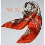 華麗な高級シルク調スカーフ 90角正方形大判レディース スカーフ dfj6d27