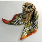 華麗な高級シルク調 花柄90角正方形大判スカーフ saj90-27a05