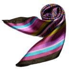 スカーフ シルク調 中判 60cm 正方形 リボンスカーフ 企業制服 事務服 手首 デニム バッグ どんな場面でも使える人気柄スカーフ