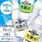 炭酸水 国産 強炭酸水 500ml 48本 (24本×2)   プレーン レモン まとめ買い 完全国産 スパークリングウォーター 友桝飲料の画像
