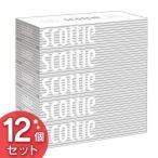 (12個セット)スコッティ ティシュー 400枚 200組 5箱 ホワイトパッケージ 日本製紙クレシア まとめ買い 送料無料 ティッシュ 箱ティッシュ ボックスティッシュ