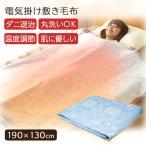 電気毛布 洗える 電気 掛け毛布 敷き毛布 ひざ掛け あったか毛布 ダニ退治機能 綿100% EM-733 (B)