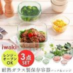 iwaki イワキ パック&レンジ 角型 3点セット 保存容器 耐熱ガラス PSC-PRN3G1 耐熱容器