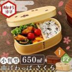 ショッピング弁当箱 弁当箱 おしゃれ 曲げわっぱ 木製 一段 小判型 大 さくら バンド付き BDH172DS2T・BDH172H2T (D)