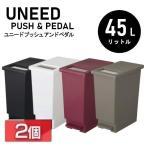 (2個セット) ゴミ箱 ダストボックス おしゃれ 45リットル キッチン スリム ごみ箱 ペダル 45L ユニード プッシュ&ペダル トンボ 45S 2個 セット